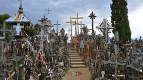 Hill Of Crosses. An outstanding Hill Of Crosses in Lithuania Royalty Free Stock Photo