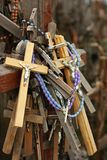 The Hill of Crosses is a pilgrimage site in north Lithuania Stock Photo