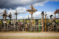 Hill of Crosses Stock Photo
