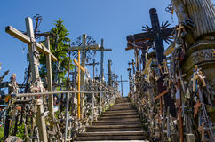 Hill of crosses. SIAULIAI, LITHUANIA. royalty free stock image
