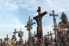 Hill of Crosses, Siauliai, Lithuania. Royalty Free Stock Photo