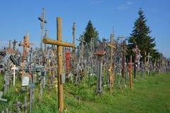 Hill of crosses Stock Photo