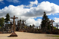 Hill of Crosses. Siauliai. Lithuania Royalty Free Stock Images
