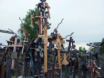 Hill of Crosses . Royalty Free Stock Images