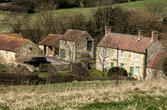 Hill farm and out-houses Stock Image