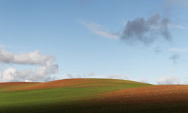 Hill farmland. Stock Photo