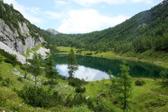 Hill, forest, landscape, mountain nature. Nature landscape mountain forest, outdoor, lake Royalty Free Stock Image