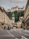 Hill fort Hohensalzburg in Salzburg Stock Image