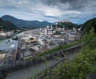 Hill fort Hohensalzburg in Salzburg Royalty Free Stock Image