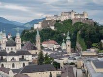 Hill fort Hohensalzburg in Salzburg Royalty Free Stock Images