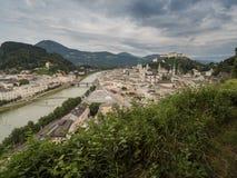 Hill fort Hohensalzburg in Salzburg Stock Images