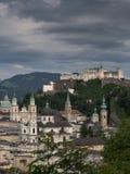 Hill fort Hohensalzburg in Salzburg Royalty Free Stock Photo