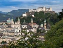Hill fort Hohensalzburg in Salzburg Stock Photos