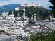 Hill fort Hohensalzburg in Salzburg Royalty Free Stock Photos
