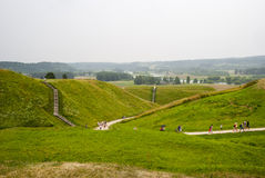 Hill forts in Kernave, old Lithuanian capital Royalty Free Stock Photo