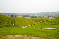 Hill forts in Kernave, old Lithuanian capital Royalty Free Stock Image