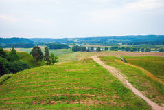 Hill forts in Kernave, old Lithuanian capital Royalty Free Stock Images