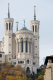 Hill of Fourviere. Close-up on Basilica of Fourviere, Lyon royalty free stock images