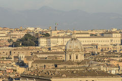From the hill gianicolo roma Italy europe. View of rome from the hill gianicolo Stock Photography