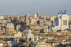 From the hill gianicolo roma Italy europe Stock Photos