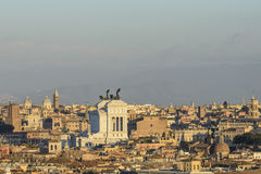 From the hill gianicolo roma Italy europe Royalty Free Stock Images