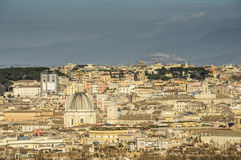 From the hill gianicolo roma Italy europe Royalty Free Stock Photos
