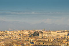 From the hill gianicolo roma Italy europe Stock Image
