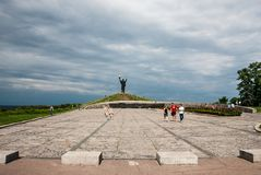 Cherkasy, Ukraine - June 01, 2013: War`s Monument on Hill of Glory. `The Hill Of Glory` - memorial to the fallen in the great Patriotic War. Reconstructed in Royalty Free Stock Photo