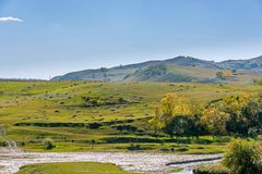 Hill and grassland royalty free stock images