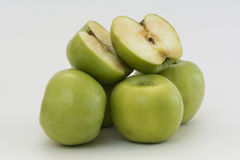 Hill of green apples Stock Image
