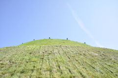 Hill. Green hill in the sky Stock Photo