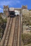 Άποψη των ανελκυστήρων σιδηροδρόμων ανατολικών Hill σε Hastings Στοκ φωτογραφία με δικαίωμα ελεύθερης χρήσης
