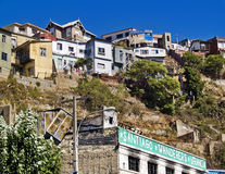 Hill with houses Royalty Free Stock Photo
