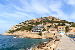 Hill with houses in Port d'Andratx, Majorca Royalty Free Stock Photography