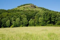 Hill Hradiste in Ceske Stredohori Stock Image