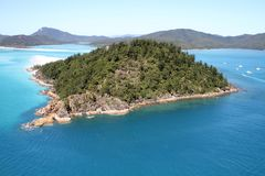 Hill Inlet - Aerial View, Whitsunday Island. An Aerial view of Hill Inlet, Whitsunday Islands, Queensland, Australia Royalty Free Stock Photo