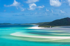 Hill inlet and Whitehaven beach Stock Images