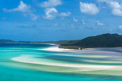 Hill inlet and Whitehaven beach Stock Photography