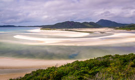 Hill Inlet at Whitsunday Island in rare green color Royalty Free Stock Photography