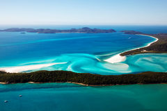 Hill Inlet Whitsundays. Aerial view of Hill Inlet in the Whitsunday Islands Australia Royalty Free Stock Image