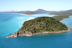 Hill Inlet - The Whitsundays. An Aerial view of Hill Inlet, Whitsunday Islands, Queensland, Australia Stock Image