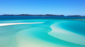 Whitehaven Beach Whitsundays. Shifting tide of Whitehaven Beach in the Whitsunday Islands Australia Stock Image