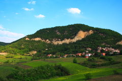 Hill landscape. Nice hill landscape in northern Italy royalty free stock image