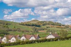Hill Largs κτύπου το καλοκαίρι με μπλε νεφελώδες Skys στο θερινό χρόνο Scotlands στοκ φωτογραφίες με δικαίωμα ελεύθερης χρήσης