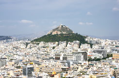 Hill Likavit Likavitos or Wolf Mountain in the center of Athen Stock Photography