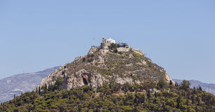 The hill of Lycabettus in Athens Stock Images