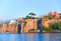 Hill at Marina Grande in Sorrento. Tyrrhenian sea, Amalfi coast, Italy Royalty Free Stock Image