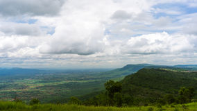 Hill Mountain and sky with cloud Royalty Free Stock Photography