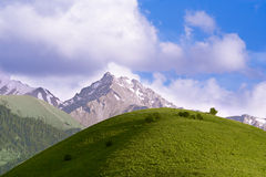 The Hill and Mountains Royalty Free Stock Photography