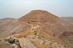 Hill of Mukawer. Place of execution of John the Baptist in Machaerus (Mukawir) - Jordan stock photo